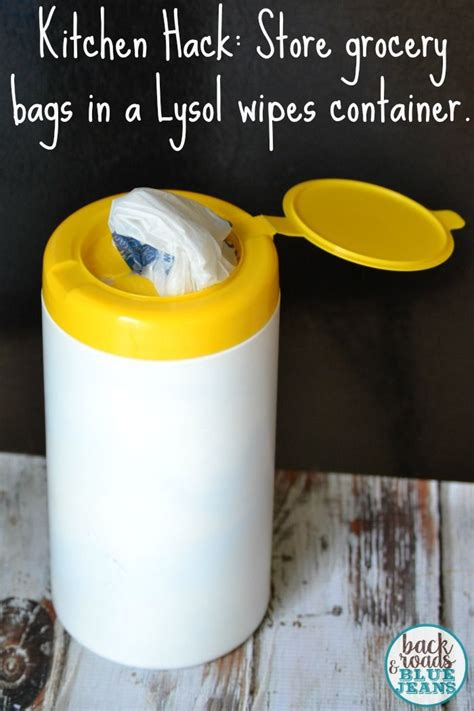 kitchen hacks kitchen hack storing plastic grocery bags