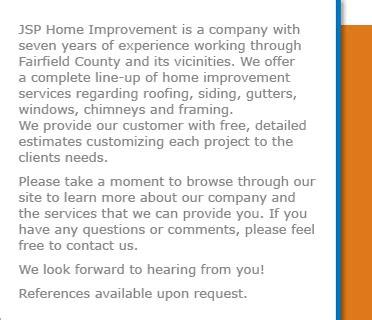 jsp home improvement about