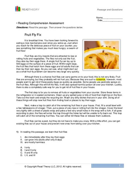 Read Theory Worksheets by Read Theory Llc Worksheets Releaseboard Free Printable