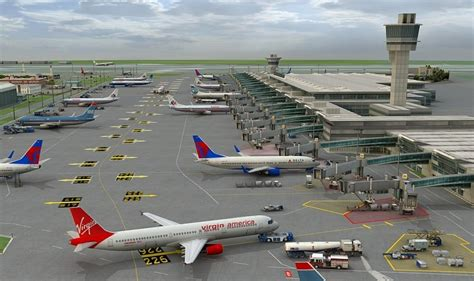 Airport 3d Model Free international airport vehicles planes 3d model rockthe3d