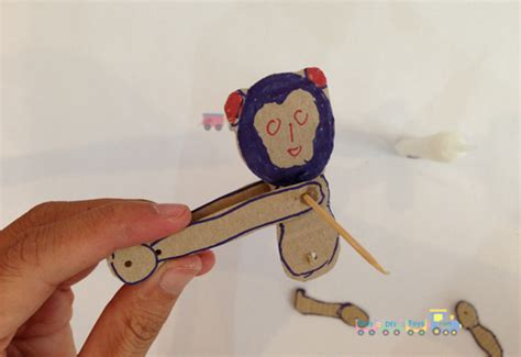 swinging monkey toy homemade from popsicle easy diy toys