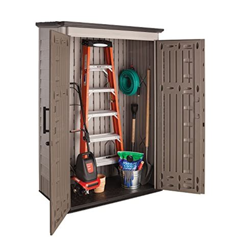rubbermaid plastic large vertical outdoor storage shed