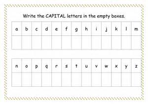 capital letter worksheet by missyrobinson teaching