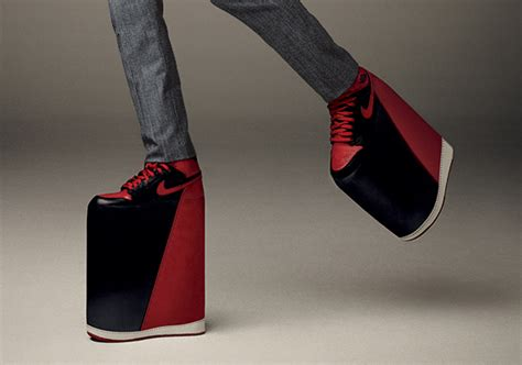 platform basketball shoes kevin hart in air 1 quot bred quot platform shoes for gq