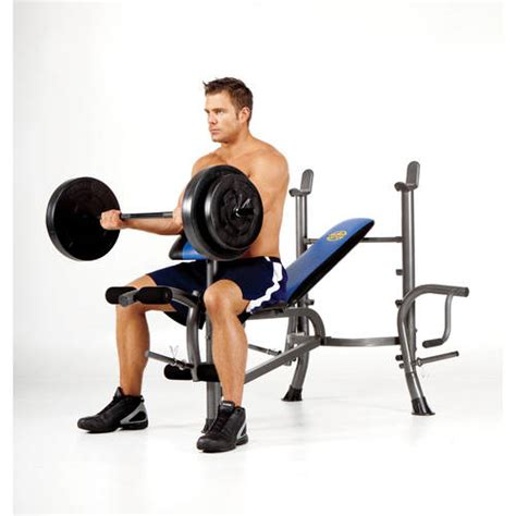 bench set with weights marcy standard bench w 80lb weight set mwb 36780b