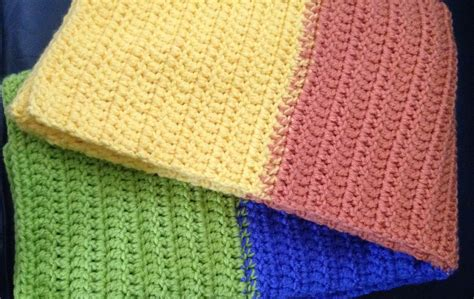 primary colors crochet baby blanket color block by