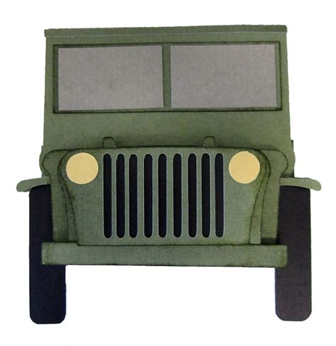 Jeep Shaped Card Pazzles Craft Room