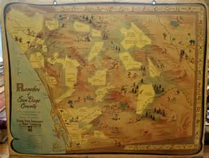 ranchos of san diego county with historic routes and