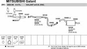 2000 Mitsubishi Galant Exhaust System Diagram Exhaust Diagrams