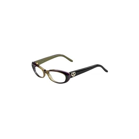 gucci womens eyeglasses 3515 wo9 17 plastic cat eye brown