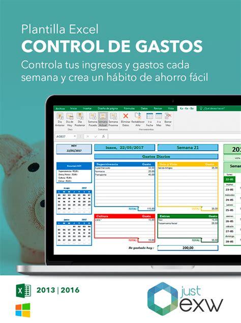 descargar plantilla excel para control ingresos gastos plantilla de control de gastos para excel plantilla para