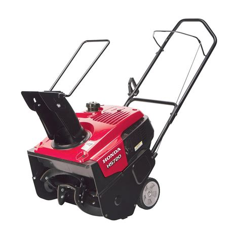 small snow blowers home depot honda hs720am 20 in single stage gas snow blower hs720am