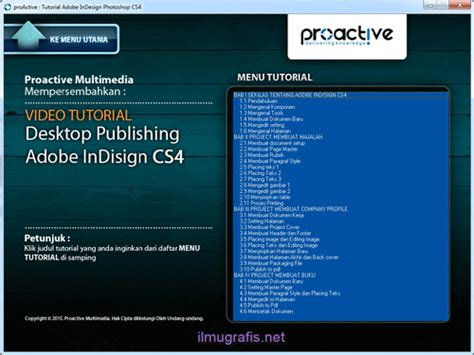 cara membuat daftar isi di adobe indesign video tutorial indesign cs4 mahir desktop publishing