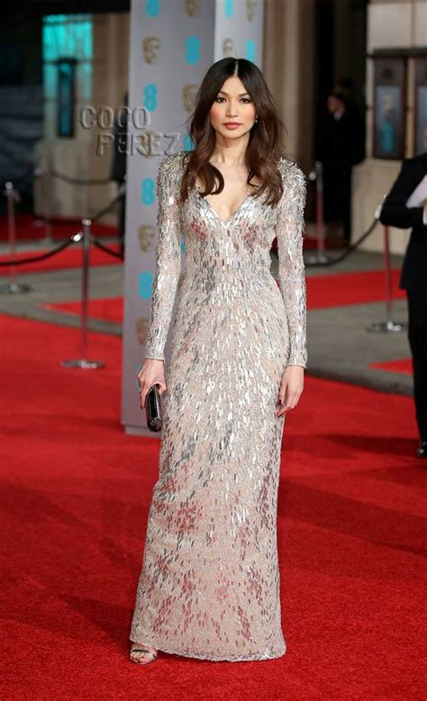 bafta 2016 awards bafta red gemma chan is the sparkliest star on the bafta awards red