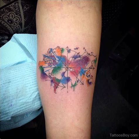 watercolor tattoos map map tattoos designs pictures page 13