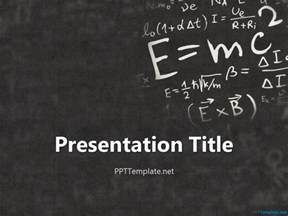 einstein physics ppt template