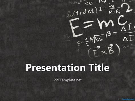 physics powerpoint templates einstein physics ppt template