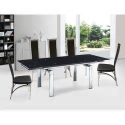 Black Glass Dining Table 7 Black Glass 160cm 220cm Extendable Dining Table