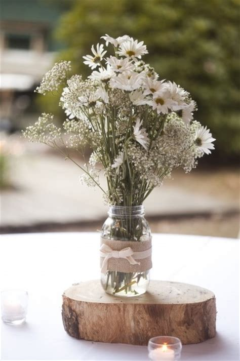 burlap covered mason jar centerpieces budget brides