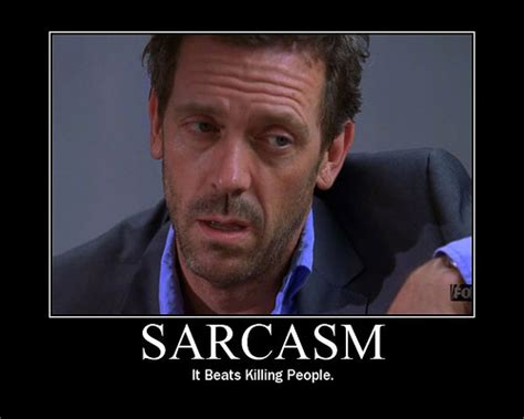 Sarcastic Meme Face - sarcasm motivational poster house m d fan art 3805895