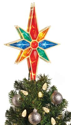 multi colored star tree topper multi colored tree topper from collections etc
