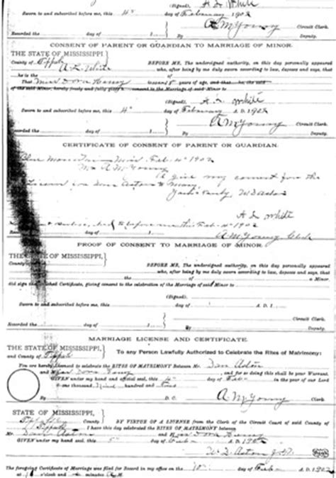 Ms Marriage Records Usgenweb Archives Tippah County Ms
