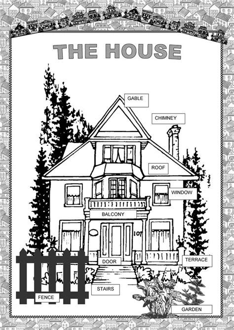 House - outside worksheet - Free ESL printable worksheets