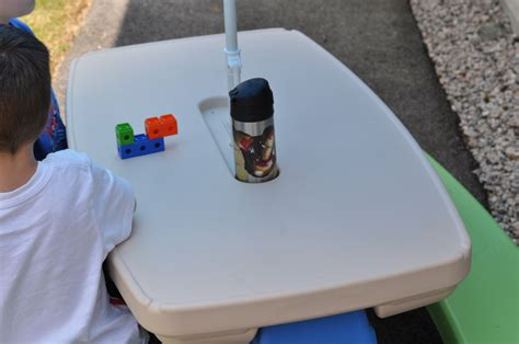 tikes easy store picnic table with umbrella tikes picnic table tikes easy store picnic