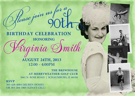 90th Birthday Invitations Free Best Party Ideas 90th Birthday Invitations Templates Free