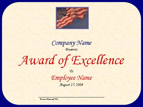 powerpoint award certificate template certificates office