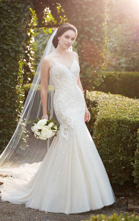 Simple Lace Boho Wedding Dress