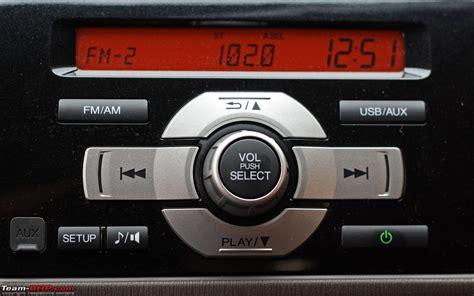 honda brio audio system honda brio test drive review team bhp