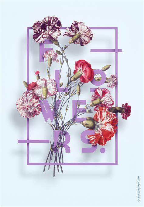 Poster Flowers by Floral Posters By Aleksander Gusakov