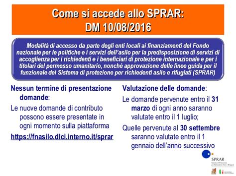 Banca Dati Sprar by Sprar Presentazione 2017 02 Webinar