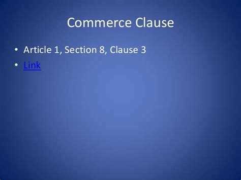 article 1 section 8 clause 3 of the us constitution constitutional law unit 3