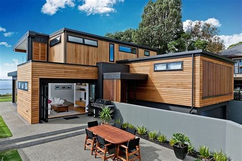 Best Of New Zealand Home Design Episodes Una Moderna Casa De Dos Pisos En Nueva Zelanda Casas Y