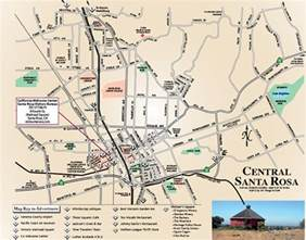 map of santa rosa 101 things to do wine country