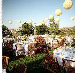 Backyard Wedding Lanterns Reception Decor Getting Crafty Paper