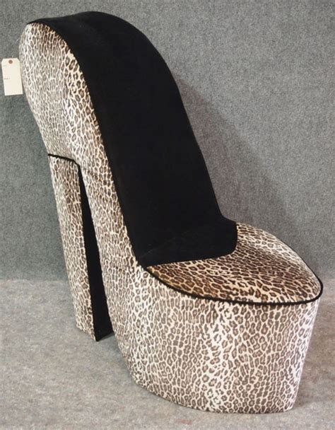 cheetah high heel chair discover and save creative ideas