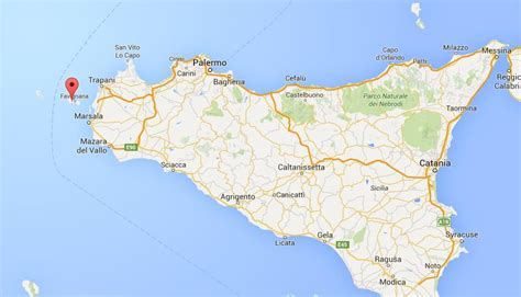 sicily on map where is favignana on map sicily world easy guides
