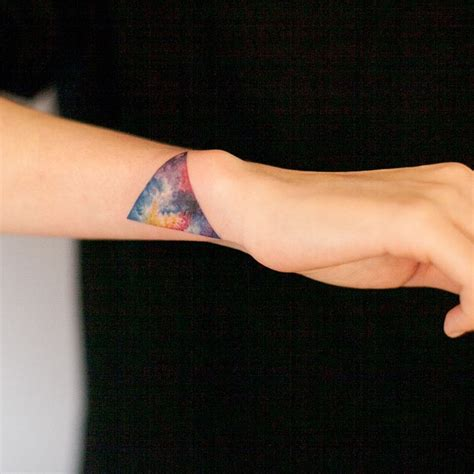 watercolor triangle tattoos 67 best triangle tattoos ideas