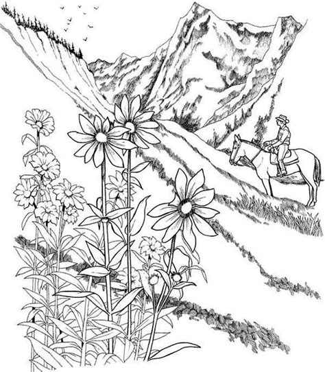 detailed landscape coloring pages for adults detailed landscape coloring pages for adults part 5