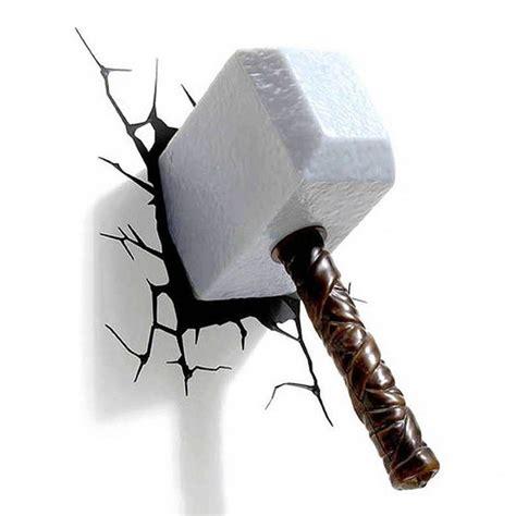 thor hammer le thor thor hammer 3d wall light