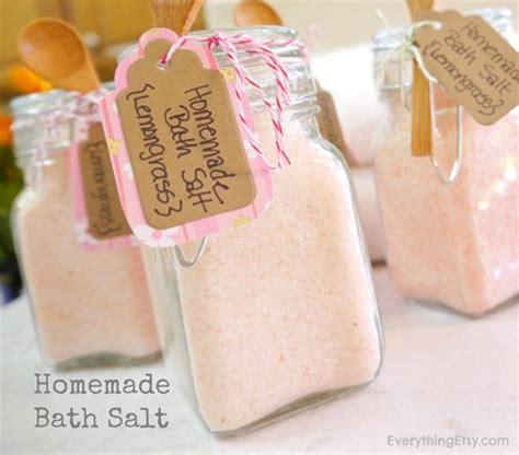 Handmade Bath - bath salt diy gift