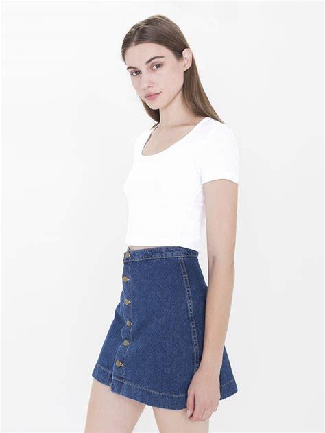 Button Front A Line Skirt button front a line denim skirt redskirtz