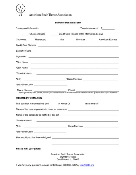 charity donation form template 6 free donation form templates excel pdf formats