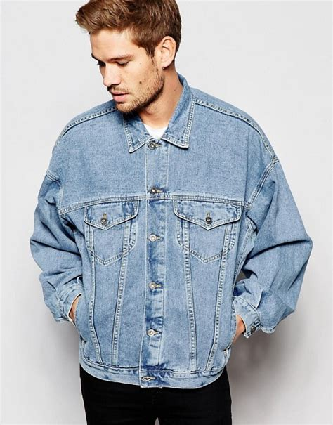 Blue Oversized Denim Jacket 1 asos asos oversized denim jacket in blue wash