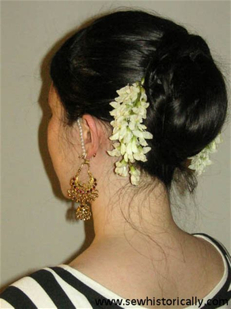 indian hairstyles with roses indian hairstyle with flowers sew historically