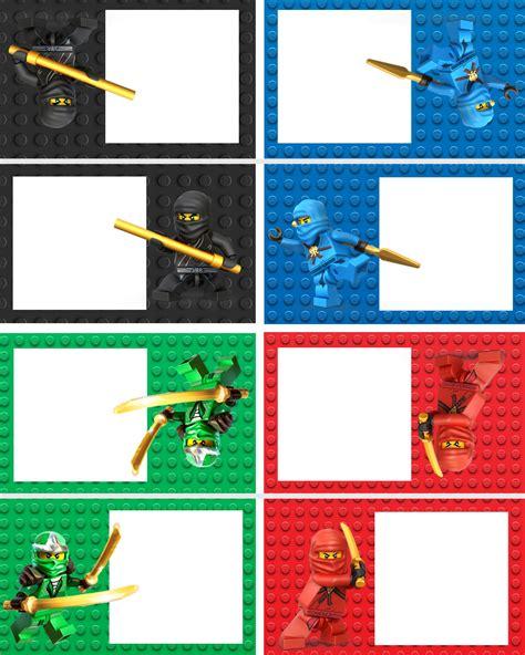 printable lego name tags ninjago food labels lego ninja printables pinterest