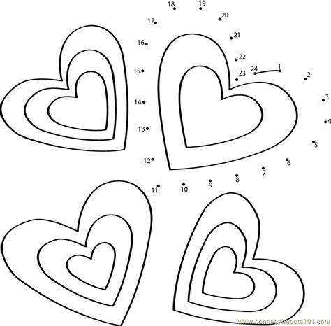 valentines day dot to dot printable worksheet